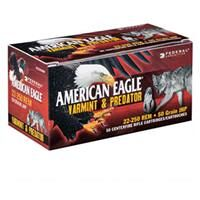 Federal American Eagle Varmint & Predator, .22-250 Remington, JHP, 50 Grain, 50 Rounds