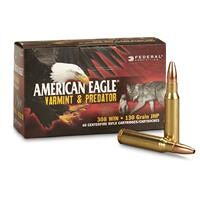 Federal American Eagle Varmint & Predator, .308 Winchester, JHP, 130 Grain, 40 Rounds
