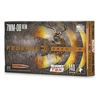 Federal Premium Barnes TSX, 7mm-08 Rem., Triple-Shock X HP, 140 Grain, 20 Rounds