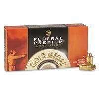 Federal Premium Gold Medal, .45 ACP, FMJ-SWC Match, 185 Grain, 50 Rounds