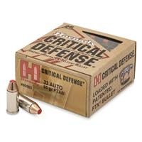 Hornady Critical Defense, .32 ACP, FTX, 60 Grain, 25 Rounds