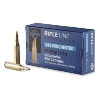 PPU, .243 Winchester, SP, 100 Grain, 20 Rounds