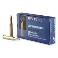 PPU, .270 Winchester, SP, 150 Grain, 20 Rounds