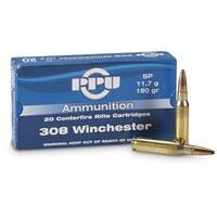PPU, .308 Winchester, 180 Grain, SP, 20 Rounds
