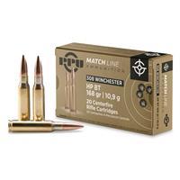 PPU, .308 Winchester, Match HPBT, 168 Grain, 20 Rounds