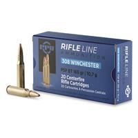 PPU, .308 Winchester, PSP-BT, 165 Grain, 20 Rounds