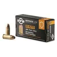 PPU Defensive Line, .32 ACP, JHP, 71 Grain, 50 Rounds