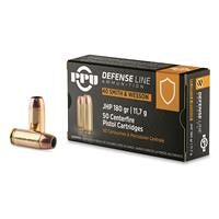 PPU Defensive Line, .40 S&W, JHP, 180 Grain, 50 Rounds