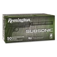Remington Subsonic, .45 ACP, FNEB, 230 Grain, 50 Rounds