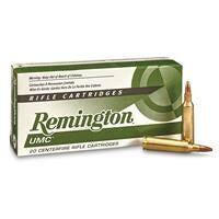 Remington UMC Rifle, .22 - 250 Rem., JHP, 50 Grain, 20 Rounds