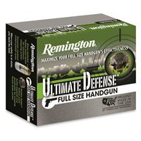 Remington Ultimate Defense Full-Size Handgun, .40 S&W, BJHP, 165 Grain, 20 Rounds