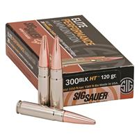 SIG SAUER Elite Copper Hunting, .300 AAC Blackout, HT, 120 Grain, 20 Rounds