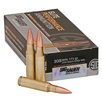 SIG SAUER Elite Match Grade, .308 Winchester, Open Tip Match, 175 Grain, 20 Rounds