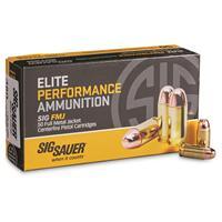 SIG SAUER Elite Performance, .380 ACP, FMJ, 100 Grain, 50 Rounds