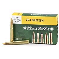 Sellier & Bellot, .303 British, FMJ, 180 Grain, 20 Rounds