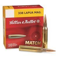 Sellier & Bellot Match, .338 Lapua Magnum, BTHP, 250 Grain, 10 Rounds