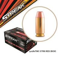 Streak Visual, .40 S&W, Total Metal Coating, 180 Grain, 20 Rounds