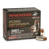 Winchester PDX1 Defender, .380 ACP, BJHP, 95 Grain, 20 Rounds