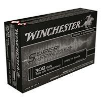 Winchester, Super Suppressed, .308, FMJOT, 168 Grain, 20 Rounds