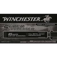 Winchester, Super Suppressed, .45 ACP, FMJE, 230 Grain, 50 Rounds