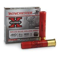 "Winchester Super-X Rifled Slugs, .410 Gauge, 2 1/2"", 1/5 oz., 5 Rounds"