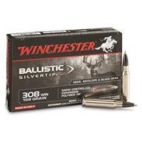 Winchester Supreme Ballistic Silvertip, .308 Winchester, BST, 168 Grain, 20 Rounds