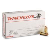 Winchester White Box, .45 ACP, FMJ, 230 Grain, 50 Rounds