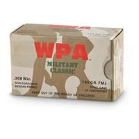 Wolf WPA Military Classic, .308 Winchester, FMJ, 145 Grain, 500 Rounds
