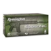 Remington Subsonic, .300 AAC Blackout, OTFB, 220 Grain, 20 Rounds
