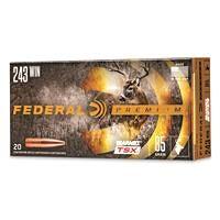 Federal Premium Barnes TSX, .243 Winchester, Triple-Shock X HP, 85 Grain, 20 Rounds