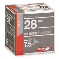 "Aguila High-Velocity Birdshot, 28 Gauge, 2 3/4"", 3/4 oz. Shotshells, 25 Rounds"