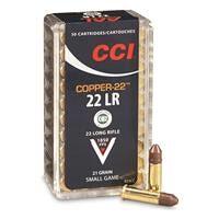 CCI Copper-22, .22LR, 21 Grain, CCP-HP, 50 Rounds