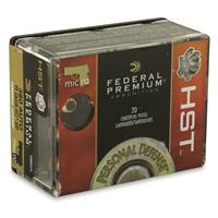 Federal Premium Personal Defense, .380 ACP, HST JHP, 99 Grain, 20 Rounds