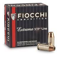 Fiocchi Extrema XTP Line, .45 ACP, XTP-JHP, 230 Grain, 25 Rounds