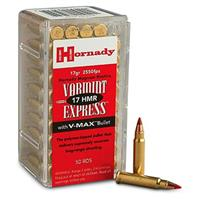 Hornady Varmint Express, .17 HMR, V-MAX, 17 Grain, 250 Rounds