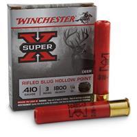 "Winchester Super-X, 410 Gauge, 3"", 1/4 oz. Rifled Slugs, 5 Rounds"