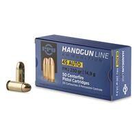 PPU Handgun Line, .45 ACP, FMJ, 230 Grain, 50 Rounds