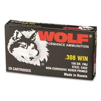 Wolf, .308 Winchester, FMJ, 150 Grain, 240 Rounds