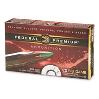 Federal Premium, .308 Winchester, Trophy Copper BT, 165 Grain, 20 Rounds