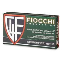 Fiocchi Rifle Shooting Dynamics, .308 Winchester, FMJBT, 150 Grain, 20 Rounds