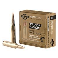 PPU Match Line, .338 Lapua Magnum, FMJ, 240 Grain, 10 Rounds