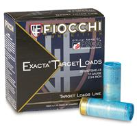 "Fiocchi Exacta Target Loads, 12 Gauge, 2 3/4"" Shell, 1 1/8 oz., 25 Rounds"