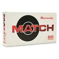 Hornady Match, .223 Rem., BTHP Match, 75 Grain, 20 Rounds