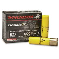 "Winchester Double X High Velocity Turkey Loads, 20 Gauge, 3"", 1 5/16 oz., 10 Rounds"