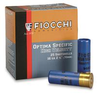"Fiocchi Optima Specific High Velocity, 16 Gauge, 2 3/4"", 1 1/8 oz., 25 Rounds"