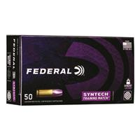 Federal Syntech Training Match, .40 S&W, Syntech Jacket FN, 180 Grain, 50 Rounds