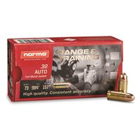 Norma Range & Training, .32 ACP, FMJ, 73 Grain, 50 Rounds