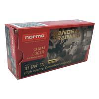 Norma Range & Training, 9mm, FMJ, 115 Grain, 50 Rounds