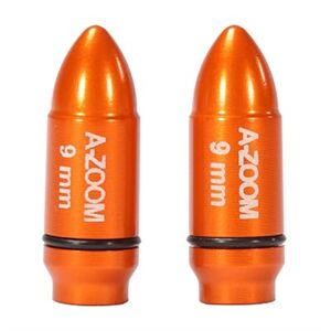 A-Zoom Ammo Snap Cap Dummy Rounds - Strikercap 9mm Luger 2pk