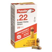Aguila Super Extra High Velocity, .22 Short, CPRN, 29 Grain, 50 Rounds